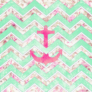 Chevron With Anchor And Infinity Wallpaper