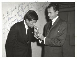 George Smathers Lighting JFK's Cigar, circa 1955 (photo courtesy of ...