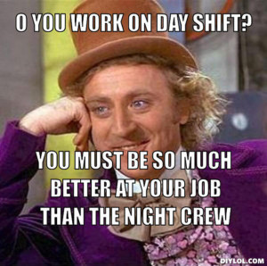 day shift vs night shift meme