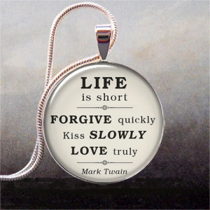... Love & Forgiveness, inspirational quote jewelry, love, romance, kiss