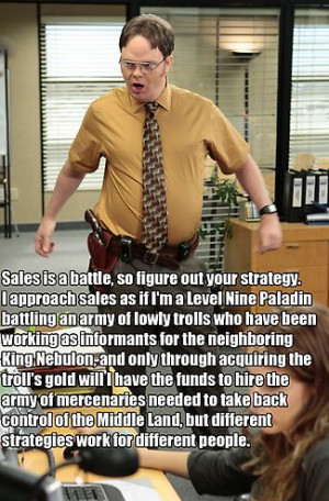 Inside Sales tips from Dwight Schrute