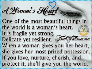 Broken Heart Quotes And Sayings For Girls A woman's heart