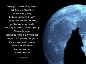 Full Moon Poems Excerpted from full moon at