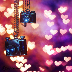 bokeh, camera, girly, heart, photography, pink