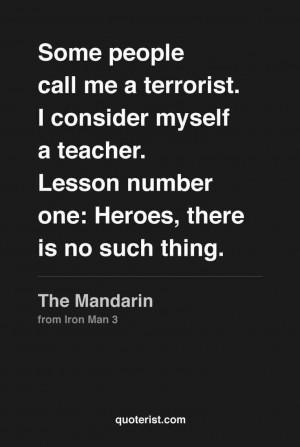 the Mandarin (Iron Man 3)