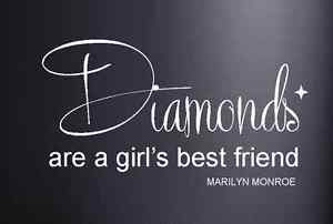 about Marilyn Monroe Diamonds Girl's Best Friend Vinyl Wall Art Quote ...