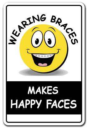 ... Sign dentist teeth tools metal funny gift braces dental gag tooth
