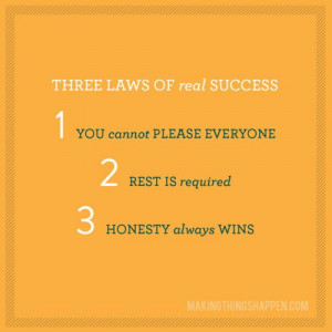 Three Laws of Real Success: Life Quotes, Remember This, Real Success ...