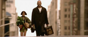 Jean Reno (Leon) and Natalie Portman (Mathilda) in The Professional ...