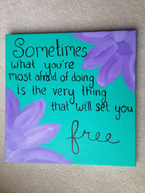 quote canvas paint dyi craft flower
