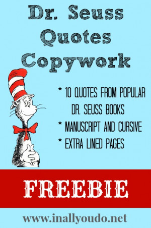 Dr. Seuss is known for his fun-loving rhymes and made-up words that ...