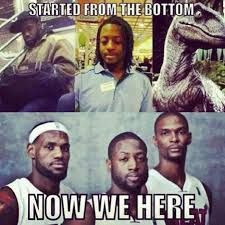 love the memes with Chris Bosh with the Dinosaur