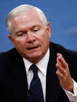 Robert Gates Holds Press Briefing At Pentagon Robert M Gates