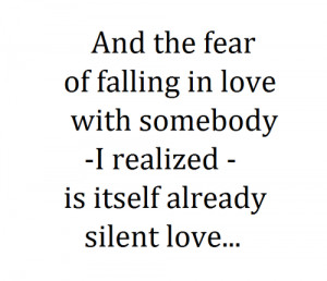 ... falling in love second best is being in love least best is falling out