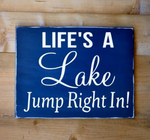 lake_house_decor_rustic_lake_sign_quotes_wooden_signs_life_is_a_lake ...