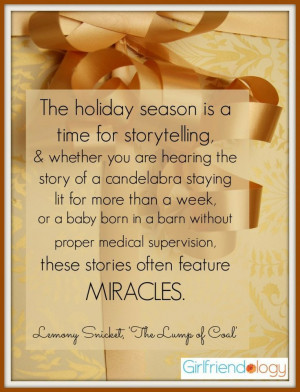 The HOLIDAY of MIRACLES :) #Christmas #Hanukkah #Quote
