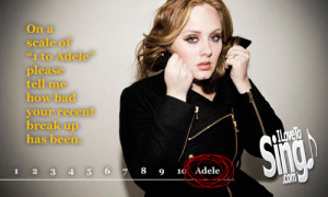 Singsational Quotes: 1 to Adele