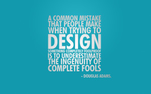 Douglas Adams quote wallpaper
