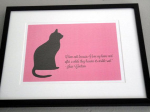 Jean Cocteau Cat Quote Framed Artwork by TheWordAssociation
