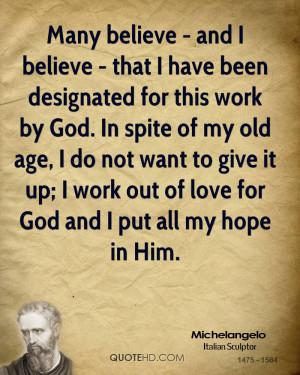 Michelangelo Work Quotes