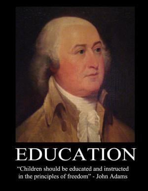 John Adams on education in freedom.
