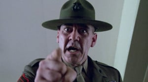 Lee Ermey in Stanley Kubrick's Full Metal Jacket, 1987