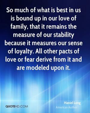 Haniel Long Love Quotes