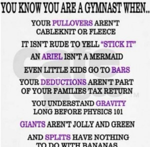 Gymnastics Sayings And Quotes Gymnastics sayings