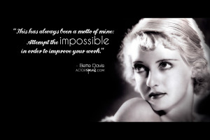 WALLPAPER: Bette Davis Acting Quote With Photo