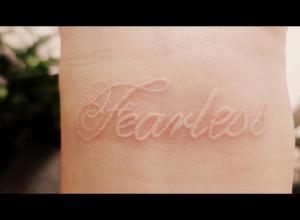 fearless, girl, tattoo