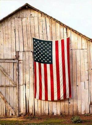 American Flag, barn