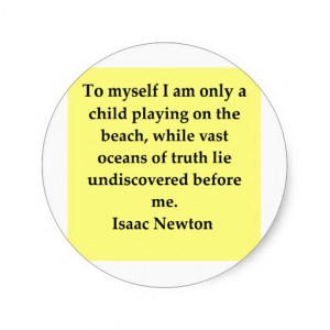 isaac newton quote round sticker