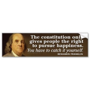 Ben Franklin Quote on the Constitution Bumper Stickers