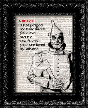 Wizard Of Oz Tin Man Heart Quote Dictionary by TheRekindledPage, $8.98 ...