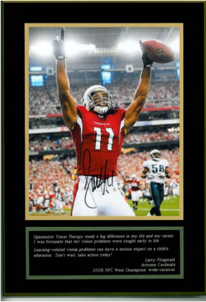... support the Public Awareness Campaign is the Larry Fitzgerald plaque