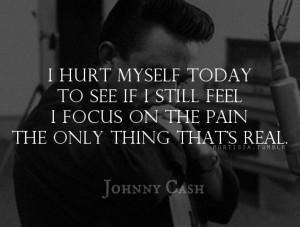 johnny cash hurt lyrics . Nine inch nails lyrics but Johnny cash did a ...