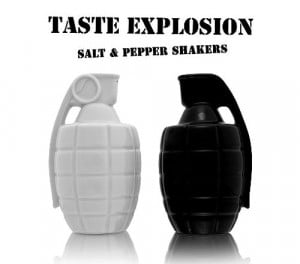 Grenade Shaped Salt And Pepper