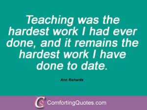 Famous Quotes And Sayings From Ann Richards