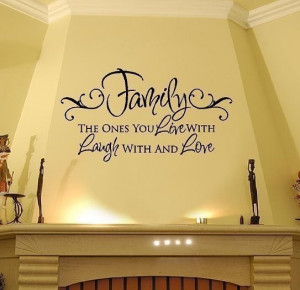 ... Laugh Love Vinyl Wall Decal Quote Lettering Transfer 22H x 36W QT0019