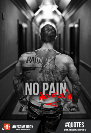 No Pain No Gain | Awesome Body | Motivation Quotes