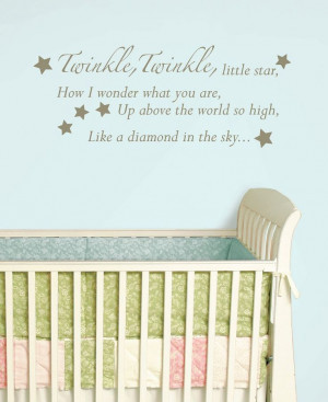 babies room wall quote