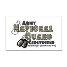 National Guard Girlfriend - Sticker (Rectangular