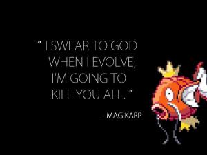 Magikarp Pokemon fish quotes wallpaper