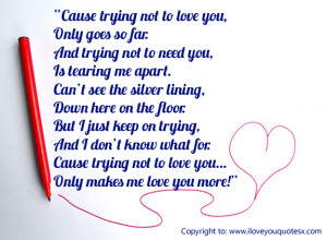 love you quotes for her to impress her