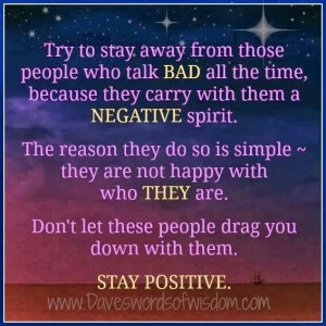 Stay away from....