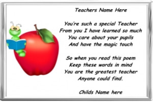 Thank You Poem For Teacher End of term teacher thank you