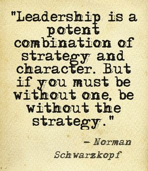 ... must be without one, be without the strategy. – Norman Schwarzkopf