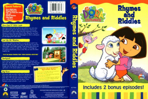 dora the explorer rhymes riddles scan tv dvd scanned covers