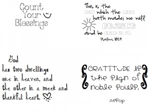 made a few quotes with fonts and clip art I liked:
