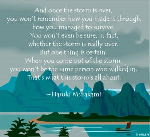On Storms, Cancer and Chronic Illness #NHBPM